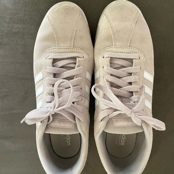 light pink adidas sneakers